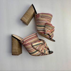 Sam Edelman Yumi Bow Block Heel Mule size 9